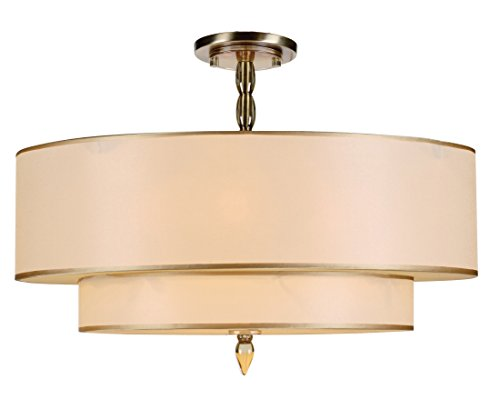 Crystorama 9507-AB_CEILING Transitional Five Light Semi-Flush from Luxo collection in Brass-Antiquefinish,