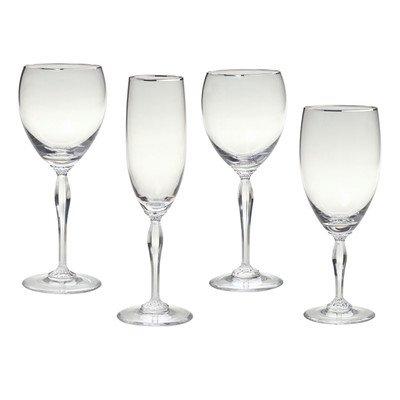 Bundle-80 Allegra Platinum Drinkware Collection (16 (Waterford Marquis Allegra)