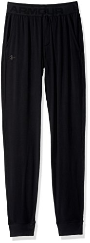 thlete Ultra Comfort Recovery Pants Sleepwear, Black/Carbon Heather, Large (Athletic Recovery)