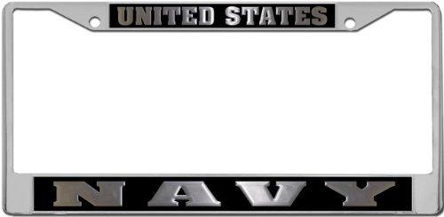 Navy - License Plate Frame Holder from (Navy License Plate Frame)