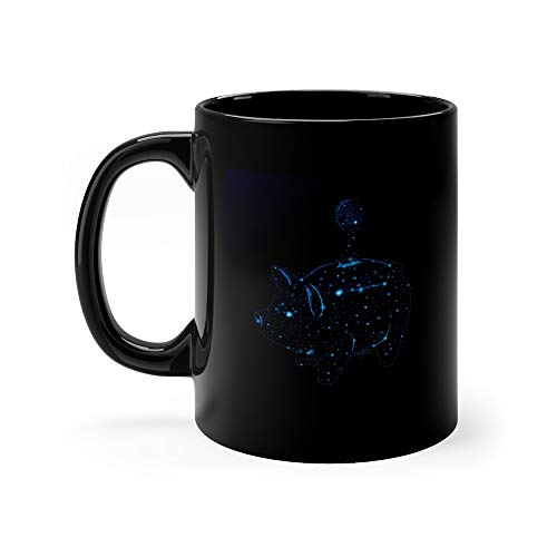 (Abstract Image Of A Piggy Bank With A Coin In The m Of A Constellation Coffee Mug 11 Oz Ceramic)