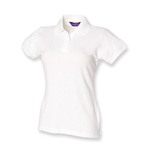 Henbury Ladies Stretch Pique Polo Shirt SIZE L/14 COLOUR White
