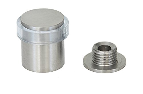 EVI Herrajes I-181-TCB - Butoir de porte, pack de 2 unités, finition inox mat (stainless steel) caoutchouc transparent 040181TCB2UAM