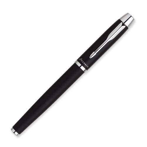 Engraved Roller Ball Pen - Parker IM Stick Black Barrel/Ink Medium Point Roller Ball Pen (1750423)