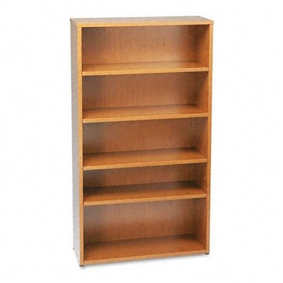 Basyx BL Laminate Series Bookcase, 5 Shelves, 35-5/8 W by 13 D by 66 H, Bourbon Cherry