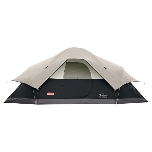 Coleman Dome Tent (Coleman 8-Person Red Canyon Tent, Black)