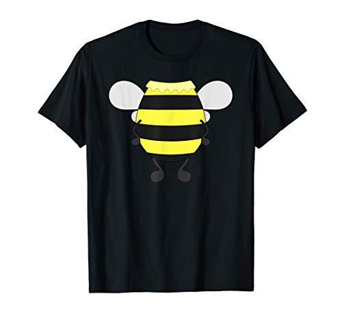 Funny Bee Costume Easy Shirt - Honeybee Halloween Cheap Gift -