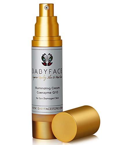 Babyface Co-Q10 ILLUMINATING CREAM Coenzyme Q-10 + Vitamin C, EGF & Matrixyl 3000 - Sun Damage Repair, Aging Skin, 1.8 oz.