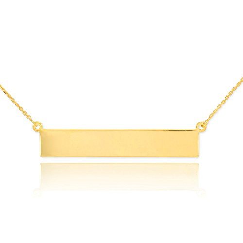 14 ct 585/1000 Or Gravable Nom Ours Collier