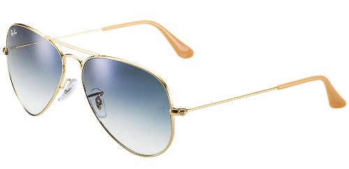 Ray-Ban AVIATOR GRADIENT 58mm Gold Light Blue Gradient ()