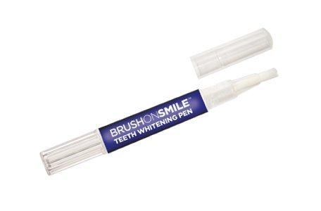 BrushOnSmile Teeth Whitening Pen, 36% Carbamide Peroxide Whitener Gel, 30 Whitening Treatments, On the Go White Smile, No Sensitivity, 3mL