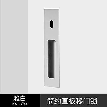 ZTZT Espacio aluminio simple puerta corredera cerradura cocina baño balcón puerta corredera cerradura manija gancho cerradura negro, elegante blanco sin llave: Amazon.es: Bricolaje y herramientas