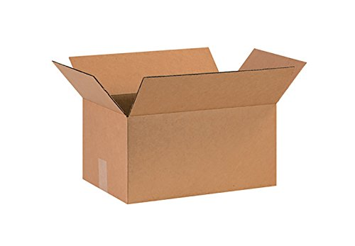 RetailSource Corrugated Boxes, 16'' x 10'' x 6'', (16' Flat Pack)