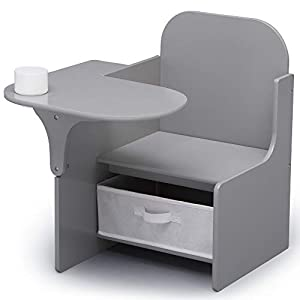 Delta Children MySize Chair Desk with Storage Bin, Grey