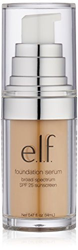 e.l.f. Beautifully Bare Foundation Serum SPF 25, Medium/Dark, 0.47 Fluid Ounce