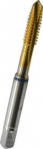 Utoolmart M5 Tap Cobalt Titanium Coated M35 Cobalt High Speed Steel Powdered Metal Spiral Point Threading Tap Plug for Cutting Threads in Through Holes 1pcs