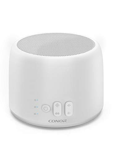 White Noise Machine, Conor High Fidelity Sound Machine for Sleeping, Baby, Office Privacy – with 24 Unique Fan White Noise Sounds, Sleep Timer, 2 USB Charge Port