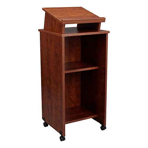 Norwood Commercial Furniture Mobile Lectern, Cherry, NOR-TIR1034-SO by Norwood Commercial Furniture (Image #1)