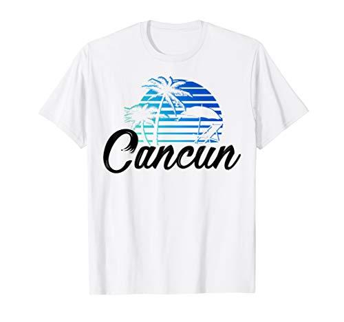 (Cancun Mexico Beach Palm Tree T-Shirt Party Destination Gift)