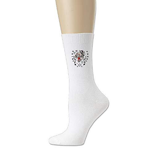 (AiguanTiger Arrow Comfort Walking Crew Socks White)