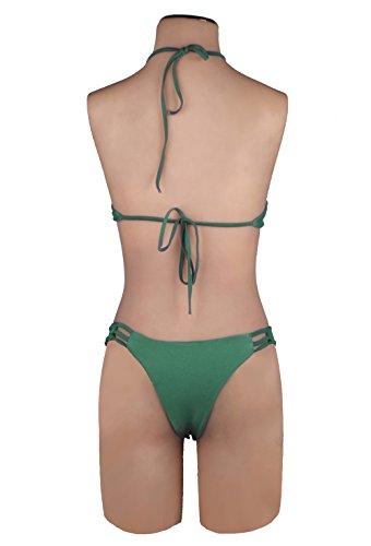 ZAIQUN Atractiva El Hueco de Venadas Trajes de Ba?o Ejercito Verde Bikini Ba?ador de Playa Verde