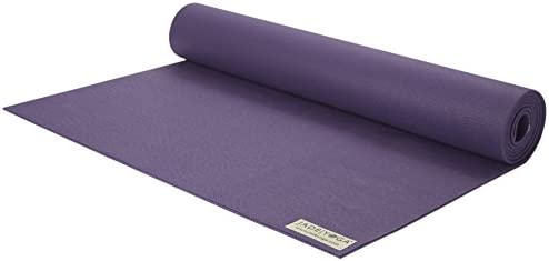 Jade Yoga Fusion Yoga Mat – Sustainable Yoga Mat with Extra Cushion for Extra Comfort 5 16 Thick, 24 Wide, 68 Long – Color Purple