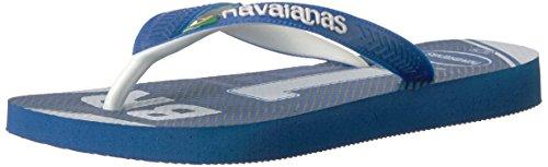 Flops Team Flip (Havaianas Unisex Teams III - Brazil Sandal,Blue/White,45/46 BR (13 M US Men's))