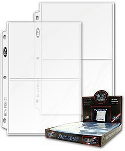 - BCW 2-Pocket Clear Protective Pages | Archival Safe Binder Pages 7-1/8
