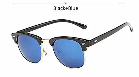 c4e73d331fa BranXin(TM) Vintage Half Frame Polarized Sunglasses Men Women Brand  Designer Retro G15 Coating
