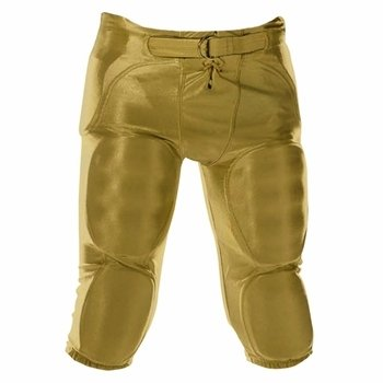 Alleson Athletic Youth Solo Series Integrated Football Pant, Vegas Gold, Small - Solid Game Pant Football
