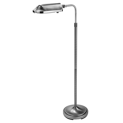 Verilux Heritage Deluxe Natural Spectrum Floor Lamp, Classic All Metal Design, Antiqued Brushed Nickel