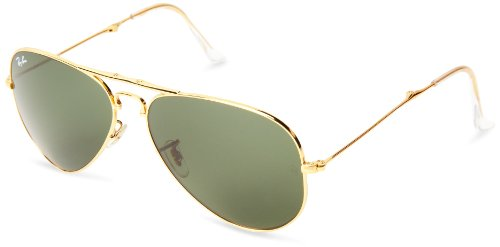 Ray-Ban-AVIATOR-FOLDING-ARISTA-Frame-CRYSTAL-BROWN-GRADIENT-Lenses-58mm-Non-Polarized