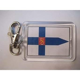 Amazon.com: Finland Military flag Keychain keyring: Clothing