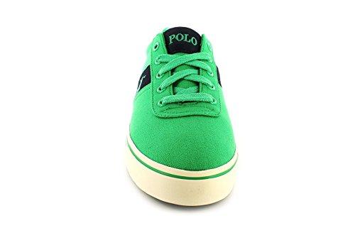 Polo Ralph Lauren Anford grüne Schuhe Manturnschuhe Stoff Verde