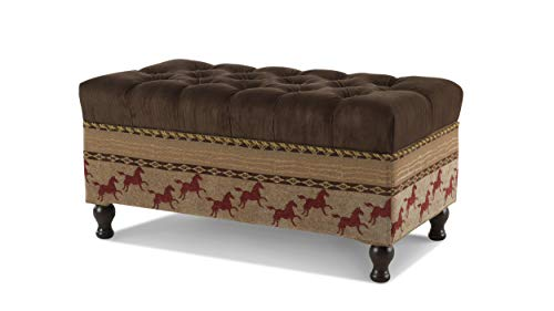 (Jennifer Taylor Clovis Storage Bench, Chocolate Brown)