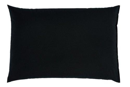 Couchkissen Sofakissen Kissen XXL Rückenpolster Bodenkissen 100x70 cm versch. Farben (schwarz)