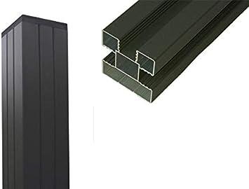 WPC - Postes universales para valla de protección visual, 68 x 68 mm, color antracita, con tapa para postes: Amazon.es: Jardín