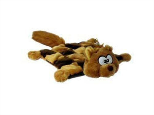 Outward Hound Kyjen  PP01371 Squeaker Mat Squirrel 16-Squeaker Plush Squeak Toy Dog Toys, Small, Brown