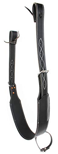ProRider USA Horse Western Leather Rear Flank Back Cinch Girth Saddle W/BILLETS Black 9758BK