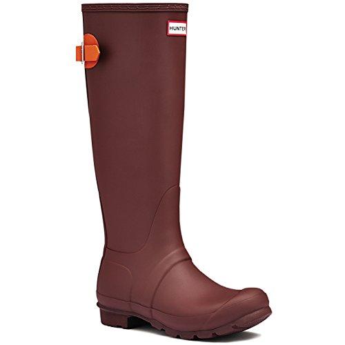Womens Hunter Regolabili Posteriori Wellingtons Impermeabili Stivali Da Pioggia In Gomma Umber / Ossido Di Ferro