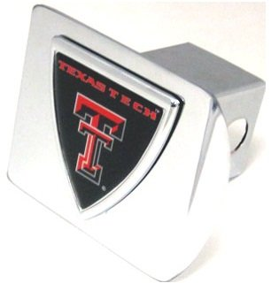 Texas Tech shield emblem on chrome METAL Hitch Cover AMG