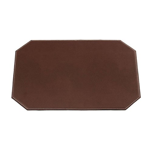 Dacasso-Brown-Leatherette-17-x-12-Cut-Corner-Placemat