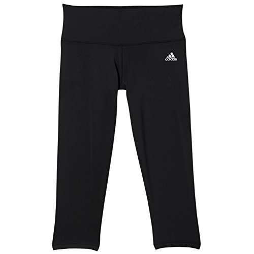 adidas Performance Women's Performer Mid-Rise 3/4 Tights, Black/Matte Silver, Medium