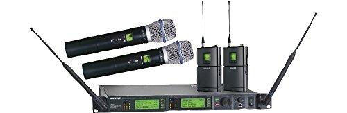 Shure UR124D/Beta87A Dual-Channel Combo System, (Ur4d Dual Channel Receiver)