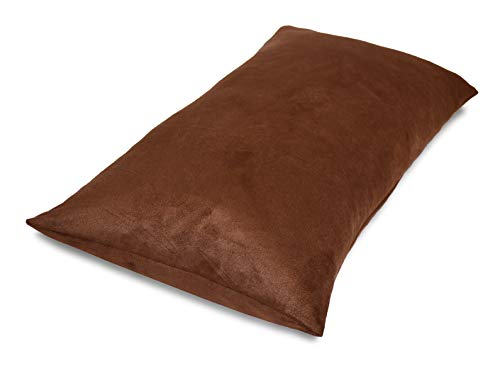(Aiking Home Luxury Faux Suede Body Pillow Cover with Hidden Zipper 20 by 54,)