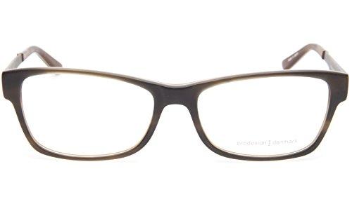 NEW PRODESIGN DENMARK 1728 c.9634 OLIVE EYEGLASSES FRAME 55-16-140 B35mm - Denmark Glasses