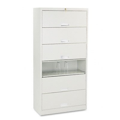 Receding Door Lateral File - HON626CLQ - HON 600 Series Six-Shelf Steel Receding Door File