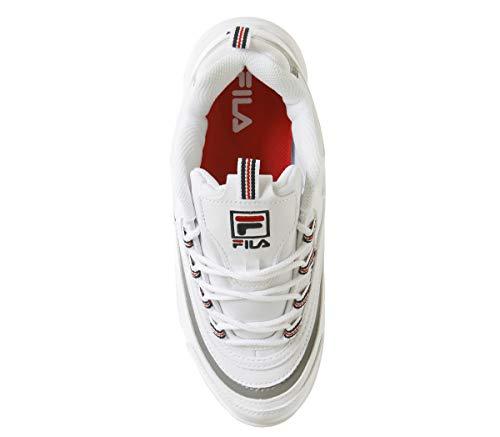 Navy marina Ray White Fila Metallic Silver Donna Bianco rosso Sneaker t6Utg0qw