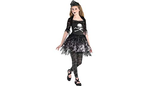 Zombie Ballerina Dress Halloween Costume for Girls, Medium, with Included Accessories, by Amscan for $<!--$26.99-->