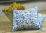 French Country Style Blue Cottage Unique Designer Bohemian Decorative Throw Pillow Cover